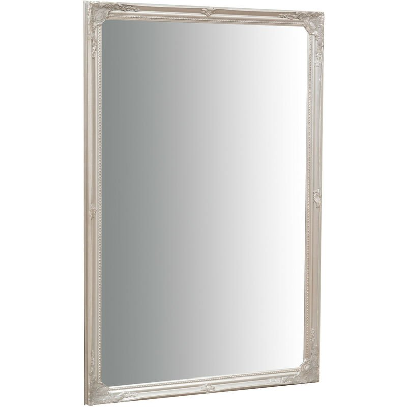 Biscottini - Wall-mounted and wall-hung vertical/horizontal mirror L60xPR3xH90 cm antique silver finish