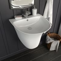 Wall-mounted Basin Ceramic White 470x450x370 mm