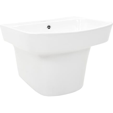 Wall-mounted Basin Ceramic White 500x450x410 mm