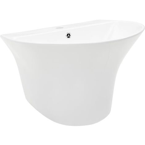 Wall-mounted Basin Ceramic White 560x480x420 mm