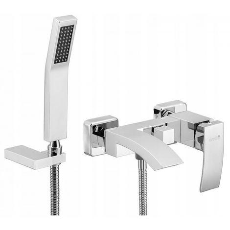 Wall mounted bath shower mixer chrome