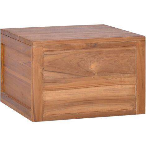 Wall-mounted Bathroom Cabinet 45x45x30 cm Solid Teak Wood