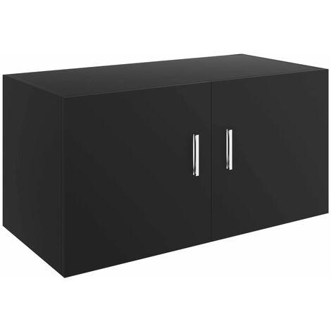 Wall Mounted Cabinet Black 80x39x40 cm Chipboard