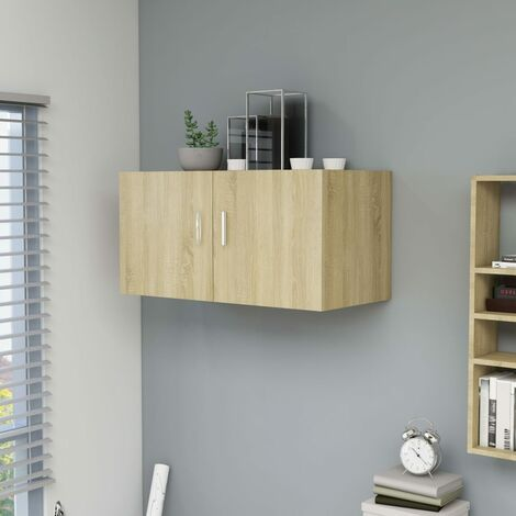 """main image of """"Wall Mounted Cabinet Sonoma Oak 80x39x40 cm Chipboard36806-Serial number"""""""