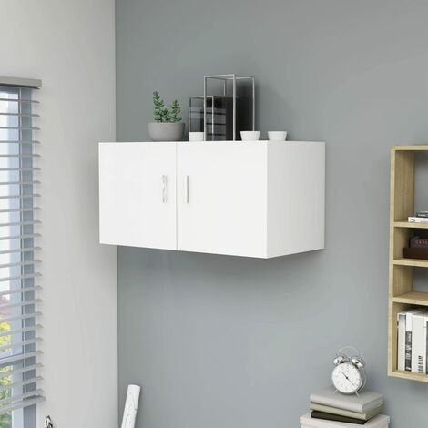 Wall Mounted Cabinet White 80x39x40 cm Chipboard