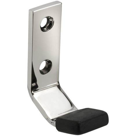 Wall Mounted Coat Hooks in Polished Stainless Steel with Buffer
