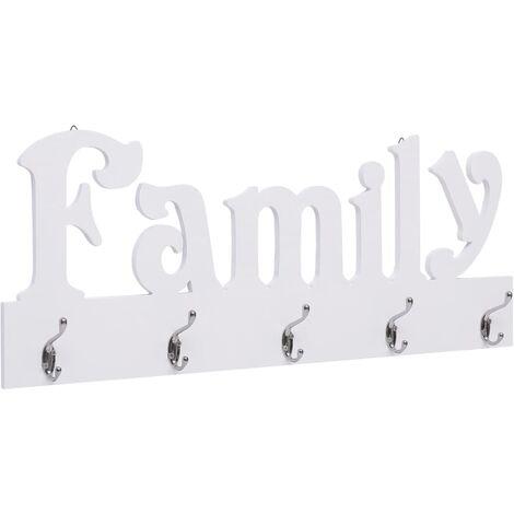 Wall Mounted Coat Rack FAMILY 74x29.5 cm