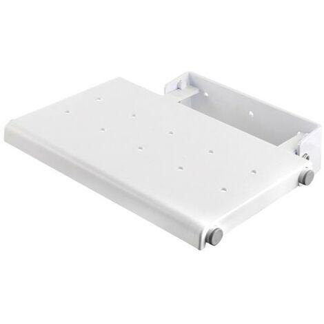 Wall Mounted Fold-Away Shower Seat - White