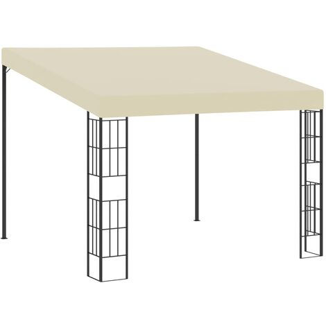 Wall-mounted Gazebo 3x3 m Cream Fabric