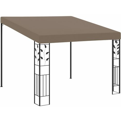 """main image of """"Wall-mounted Gazebo 3x3x2.5 m Taupe24175-Serial number"""""""