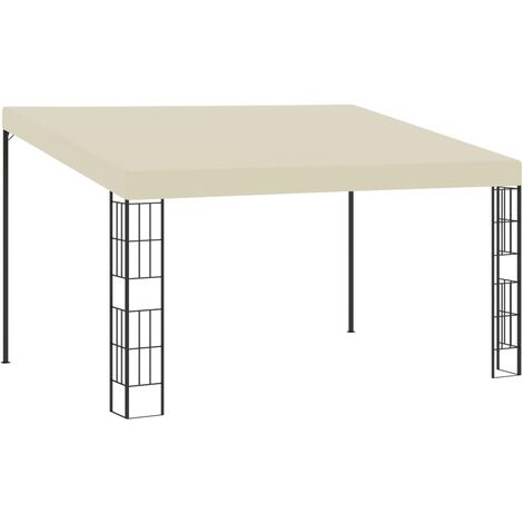 Wall-mounted Gazebo 3x4 m Cream Fabric