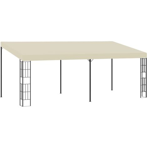 Wall-mounted Gazebo 3x6 m Cream Fabric