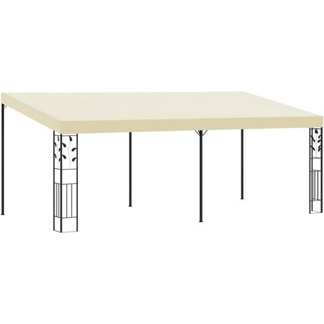 Wall-mounted Gazebo 6x3x2.5 m Cream
