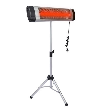 Wall Mounted Infrared Heater 2500W with Quartz Heating Unit and Sturdy Tripod