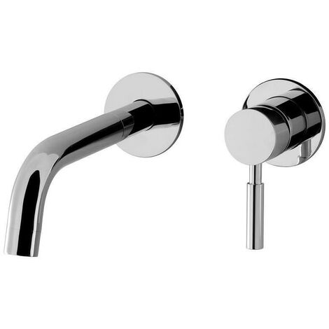 Wall Mounted Lever Water Mixer Basin Filler Tap Spout Chrome Water Outlet