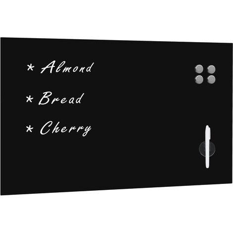 Wall Mounted Magnetic Blackboard Glass 100x60 cm