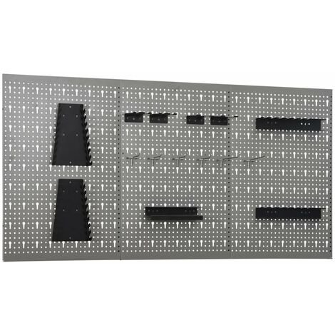 Wall-mounted Peg Boards 3 pcs 40x58 cm Steel
