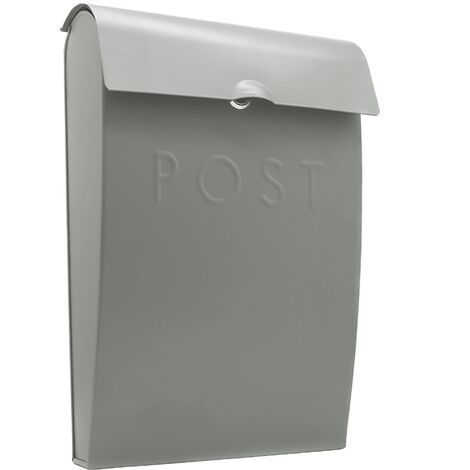 """main image of """"Wall Mounted Post Box in Grey   M&W New - Grey"""""""