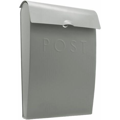 Wall Mounted Post Box   M&W Grey New - Grey