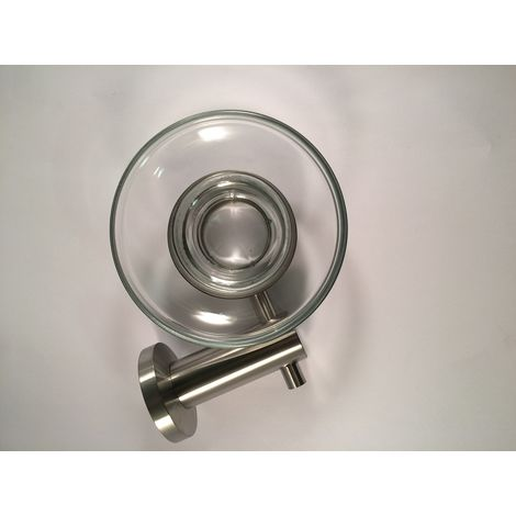 Wall Mounted Round Glass Bathroom Soap Dish & Holder
