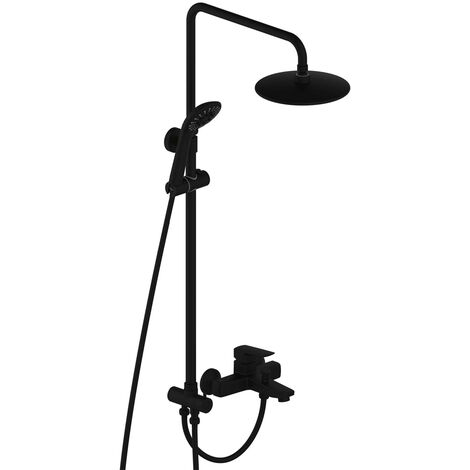 Wall-mounted shower column black finish - Corbeau