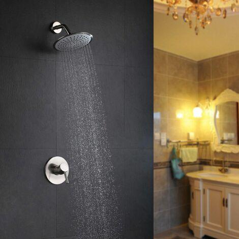 Wall mounted shower head mixer