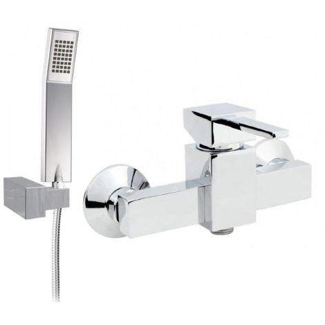 Wall mounted shower mixer with caro shower