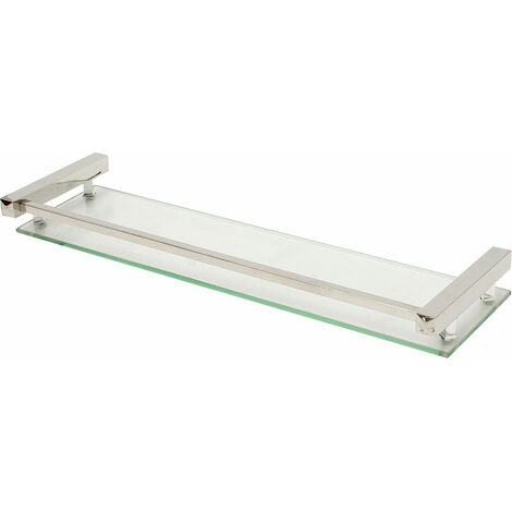 Wall Mounted Stainless Steel Glass Shelf Bracket Storage Bathroom Shower Storage