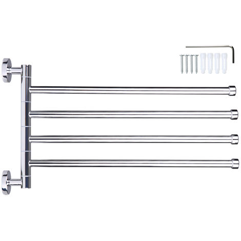 Wall-Mounted Stainless Steel Swivel Bar Towel Rack