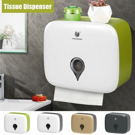 Wall-mounted toilet paper dispenser Toilet paper dispenser Tissue box holder Bathroom (greenapple)