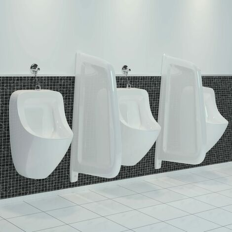 Wall-mounted Urinal Privacy Screen Ceramic White