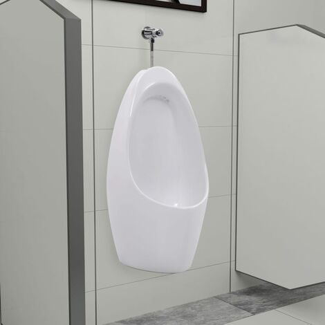Wall Mounted Urinal with Flush System Ceramic