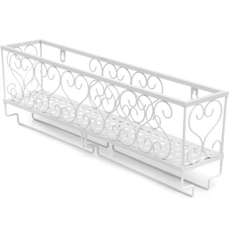 Wall Mounted Wine Rack Bottle Champagne Glass Holder Bar Accessory white