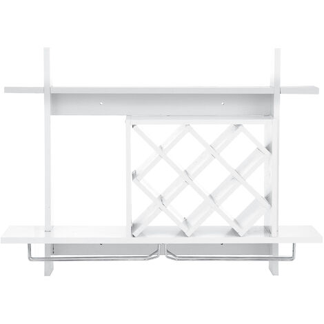 Wall Mounted Wine Rack Organizer Glass Holder Storage Shelf 80x20x58CM