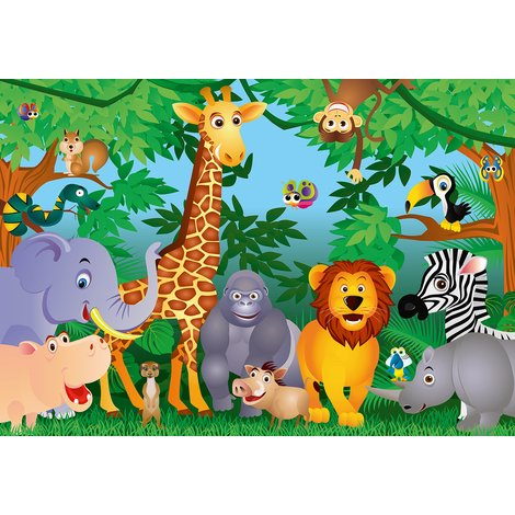 Wall Mural Animal Party