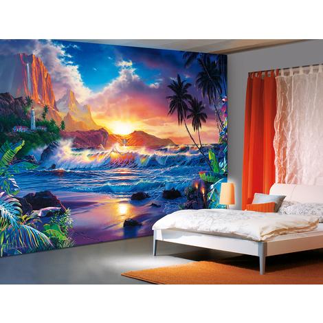 Wall Mural Beach Sunset