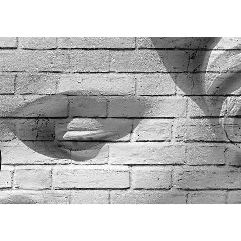 Wall Mural Brick Wall Cupid