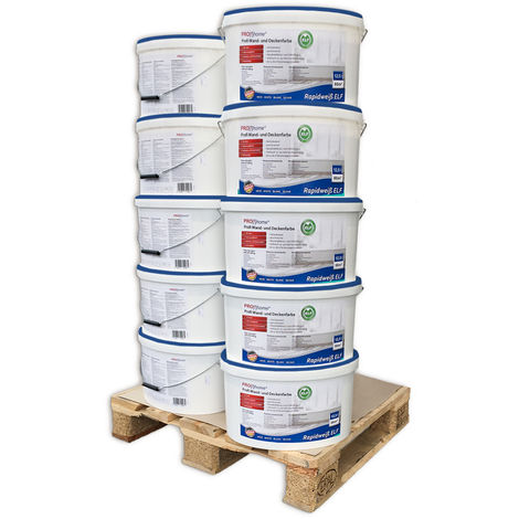 Wall paint PROFHOME ELF 300-32-10 professional paint for interior walls ceilings abrasion resistant white matt 125 ltr for 850 sqm