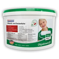 Wall paint PROFHOME ELF all purpose paint for interior walls ceilings good hiding power white matt   12.5 ltr for 85 sqm