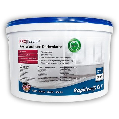 Wall paint PROFHOME ELF professional paint for interior walls ceilings abrasion resistant white matt 12.5 ltr for 85 sqm