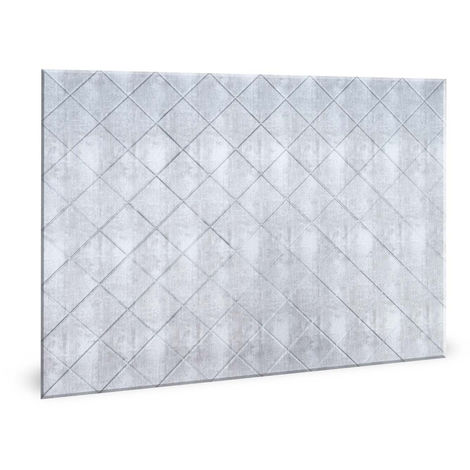 Wall panel 3D Profhome 3D 704546 Criss Crosshatch Silver smooth Decor panel vintage design glossy silver 1,7 m2