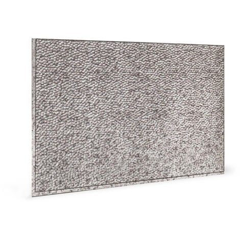 Wall panel 3D Profhome 3D 705048 Lamina Crosshatch Silver embossed Decor panel with an abstract pattern glossy silver 1,7 m2