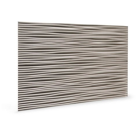 Wall panel 3D Profhome 3D 705054 Wilderness Brushed Nickel embossed Decor panel plastic look glossy grey 1,7 m2