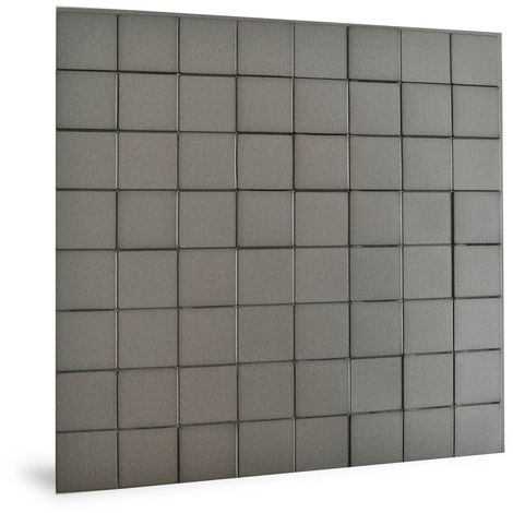 Wall panel 3D Profhome 3D 705258 Harmony Cubes Smoked Gray smooth Decor panel plastic look glossy grey 2,2 m2