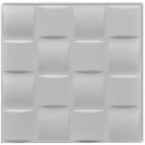 Wall Panel 3D Square 0.5 m x 0.5 m 24 Panels 6 m²