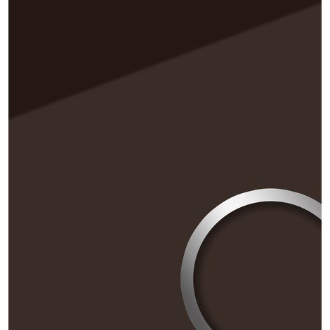 Wall panel glass look WallFace 17964 UNI MOCCA decor panel abrasion-resistant self-adhesive brown | 28 sq ft (2.60 sqm)