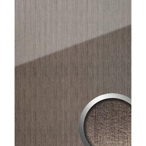 Wall panel glass look WallFace 20219 ALIGNED Silver AR+ smooth Design panelling with a mirror finish self-adhesive abrasion-resistant grey silver 2.6 m2