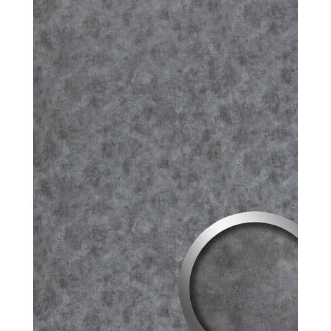 Wall panel metal look WallFace 20190 OXIDIZED Titan smooth Design panelling rusty vintage design glossy self-adhesive abrasion-resistant grey 2.6 m2
