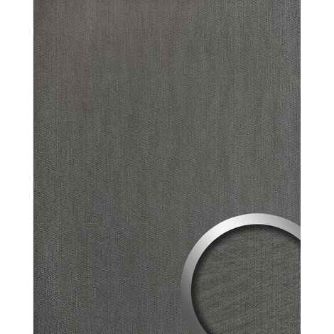 Wall panel metal look WallFace 20192 METALLIC USED Titan AR smooth Design panelling used look glossy self-adhesive abrasion-resistant grey graphite grey 2.6 m2