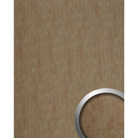 Wall panel metal look WallFace 20195 METALLIC USED Sand AR smooth Design panelling used look glossy self-adhesive abrasion-resistant grey sandy 2.6 m2